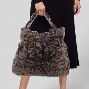 Jerome Dreyfuss Billy Large Leopard Shoulder Bag